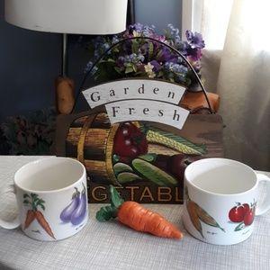 🍅🌽Vibrant Garden sign🌶🍅mugs~carrot